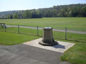 Stainless sundial installed on a Victorian plinth