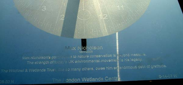 sundial memorial to Max Nicholson